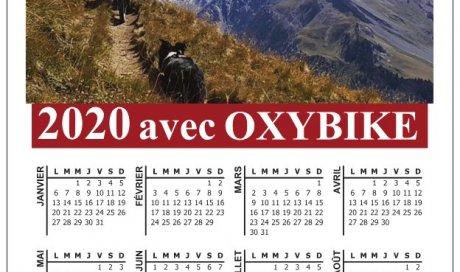 Le désormais classique calendrier magnétique d'OXYBIKE est  disponible dans votre magasin ,2 versions cette année ,venez vite !!!!